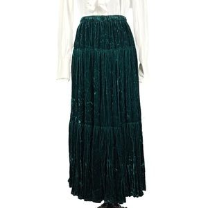 3 Tiered Crushed Velvet Broomstick Skirt NWT * OS